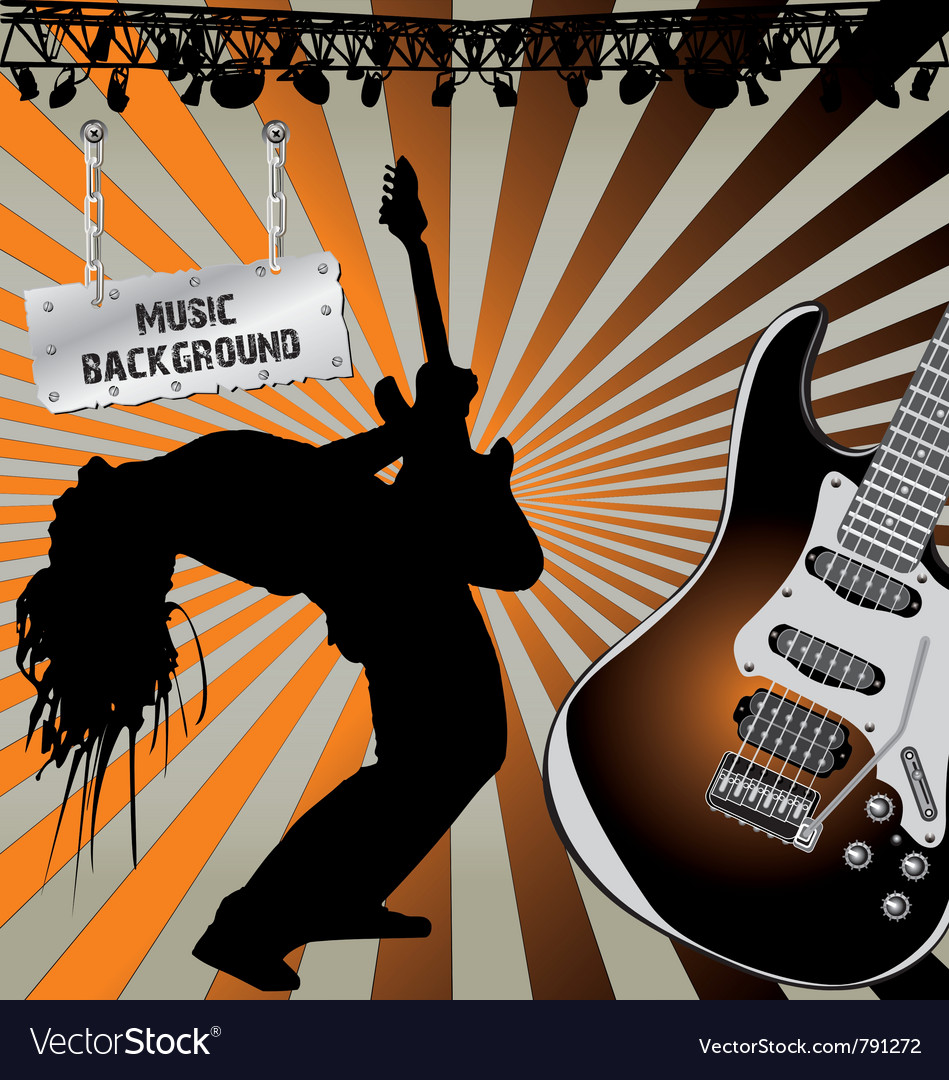 Rock musician on stage vector | Price: 1 Credit (USD $1)
