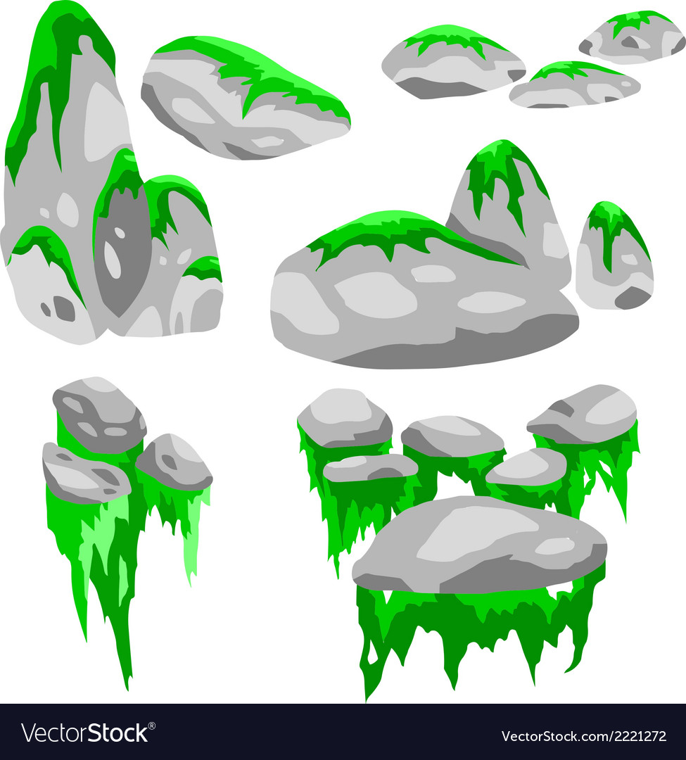 Stone moss vector | Price: 1 Credit (USD $1)