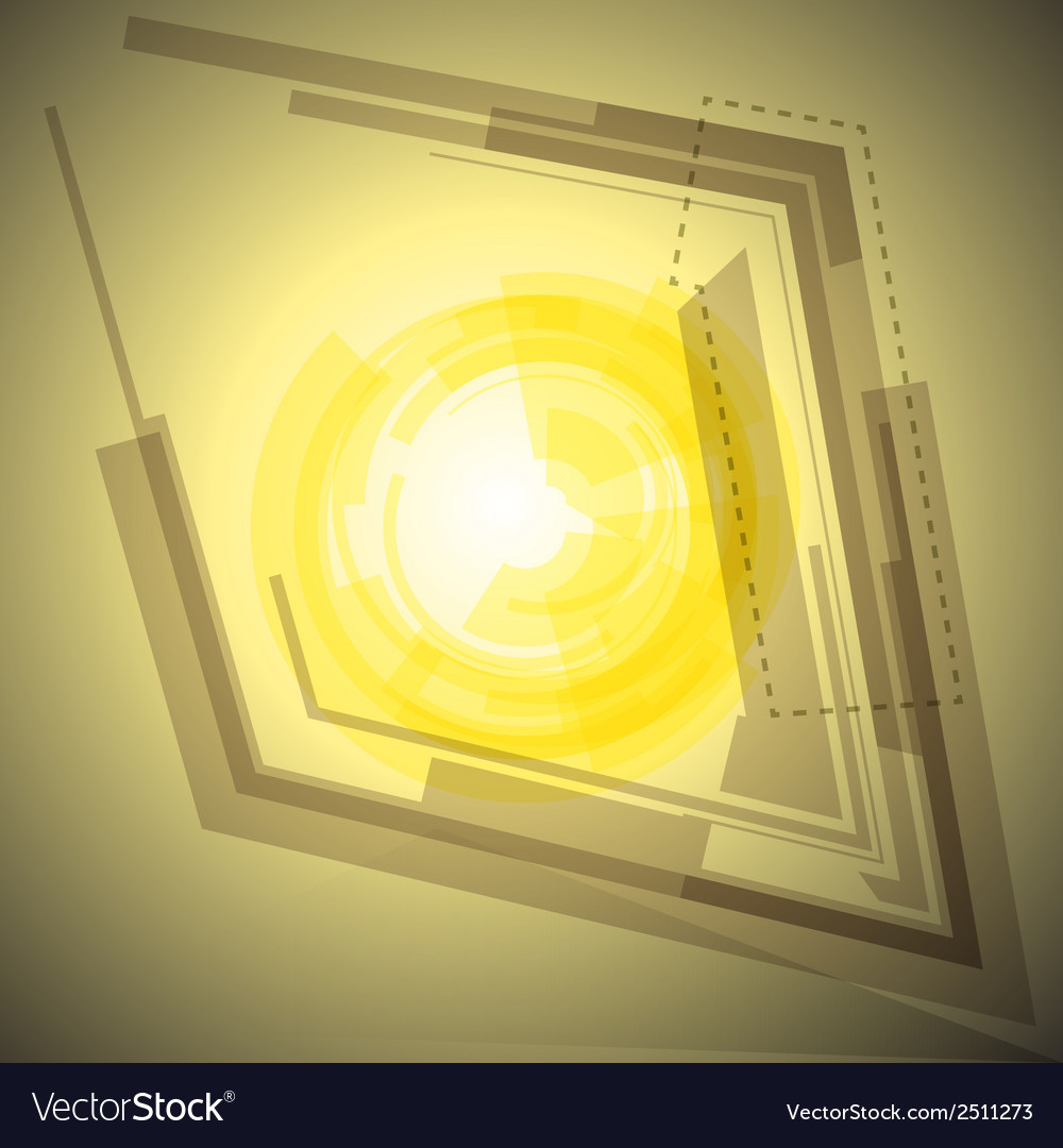 Abstract yellow background with light vector | Price: 1 Credit (USD $1)