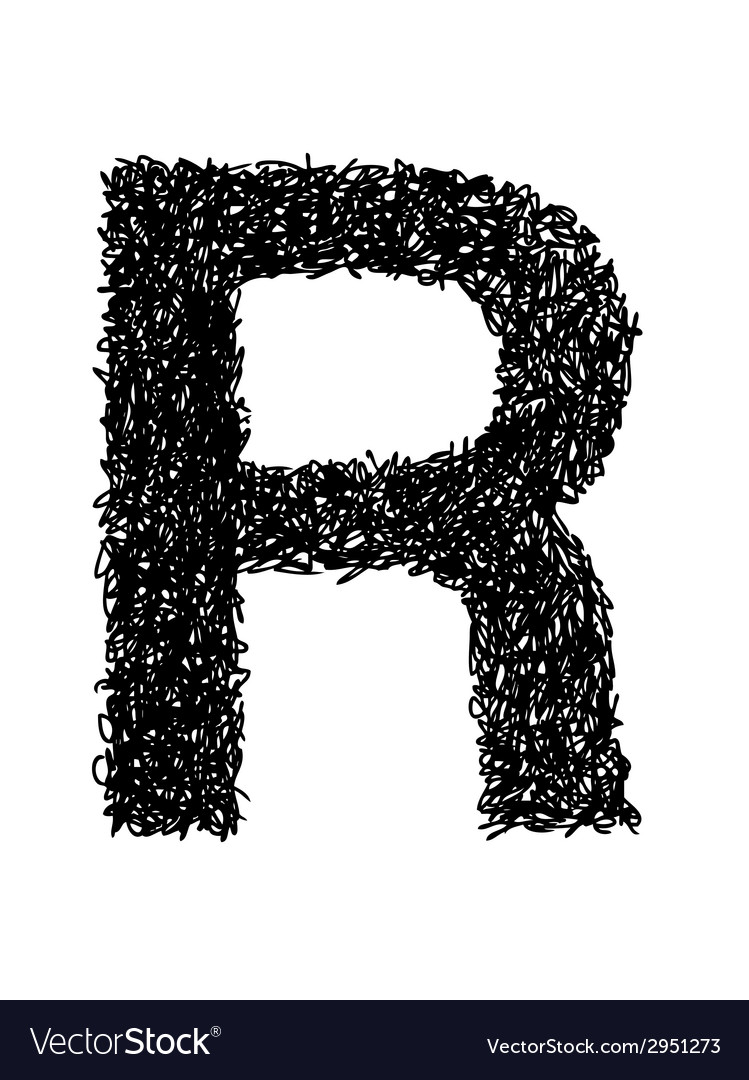 Alphabet r vector | Price: 1 Credit (USD $1)