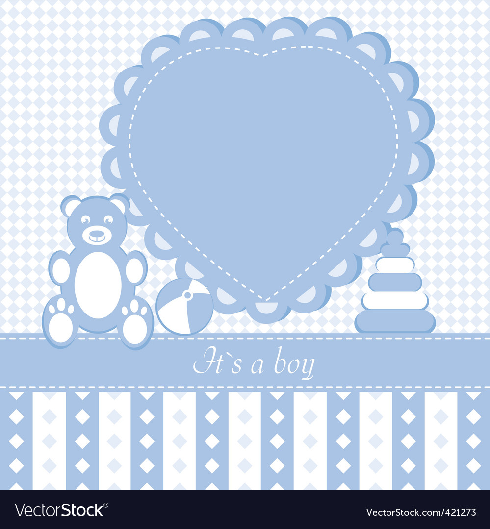 Baby boy shower invitation car vector | Price: 1 Credit (USD $1)