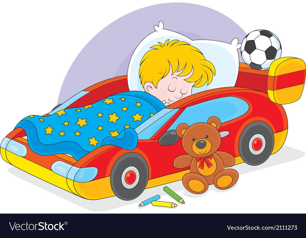 Boy sleeping vector | Price: 1 Credit (USD $1)