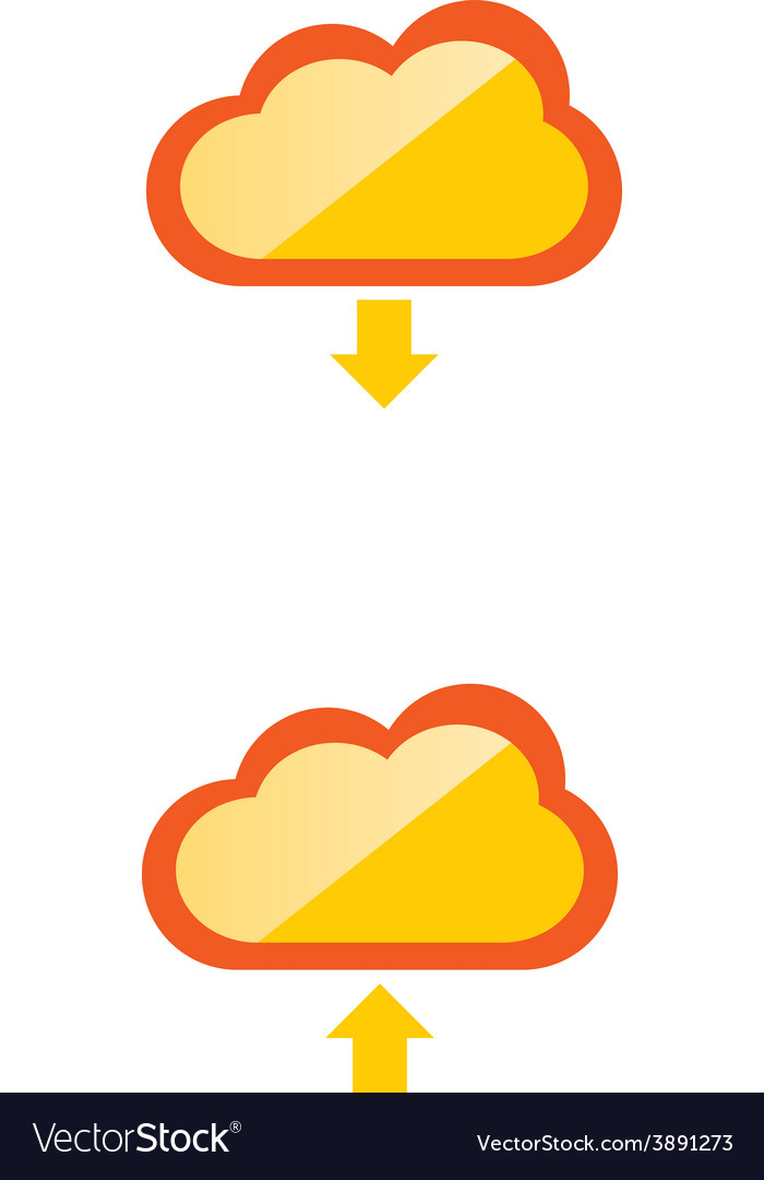 Cloud download and upload 34 vector | Price: 1 Credit (USD $1)