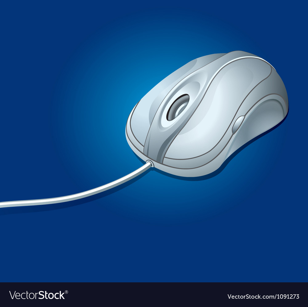 Computer mouse with cord vector | Price: 1 Credit (USD $1)