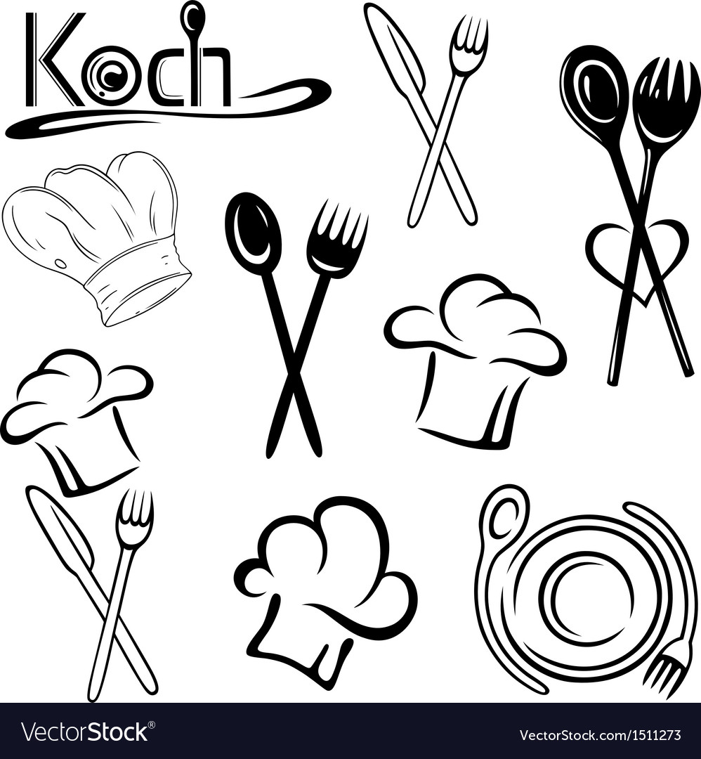 Cook gastronomy food vector | Price: 1 Credit (USD $1)