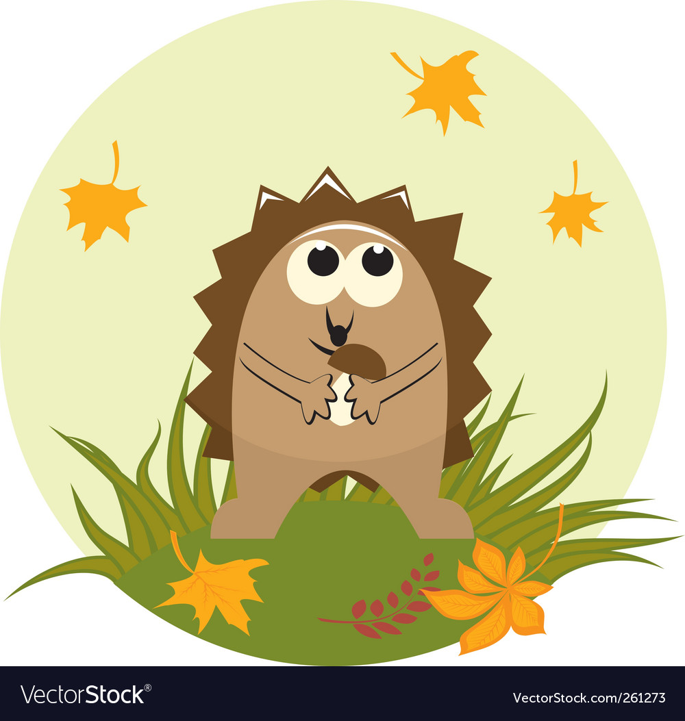 Cute hedgehog vector | Price: 1 Credit (USD $1)