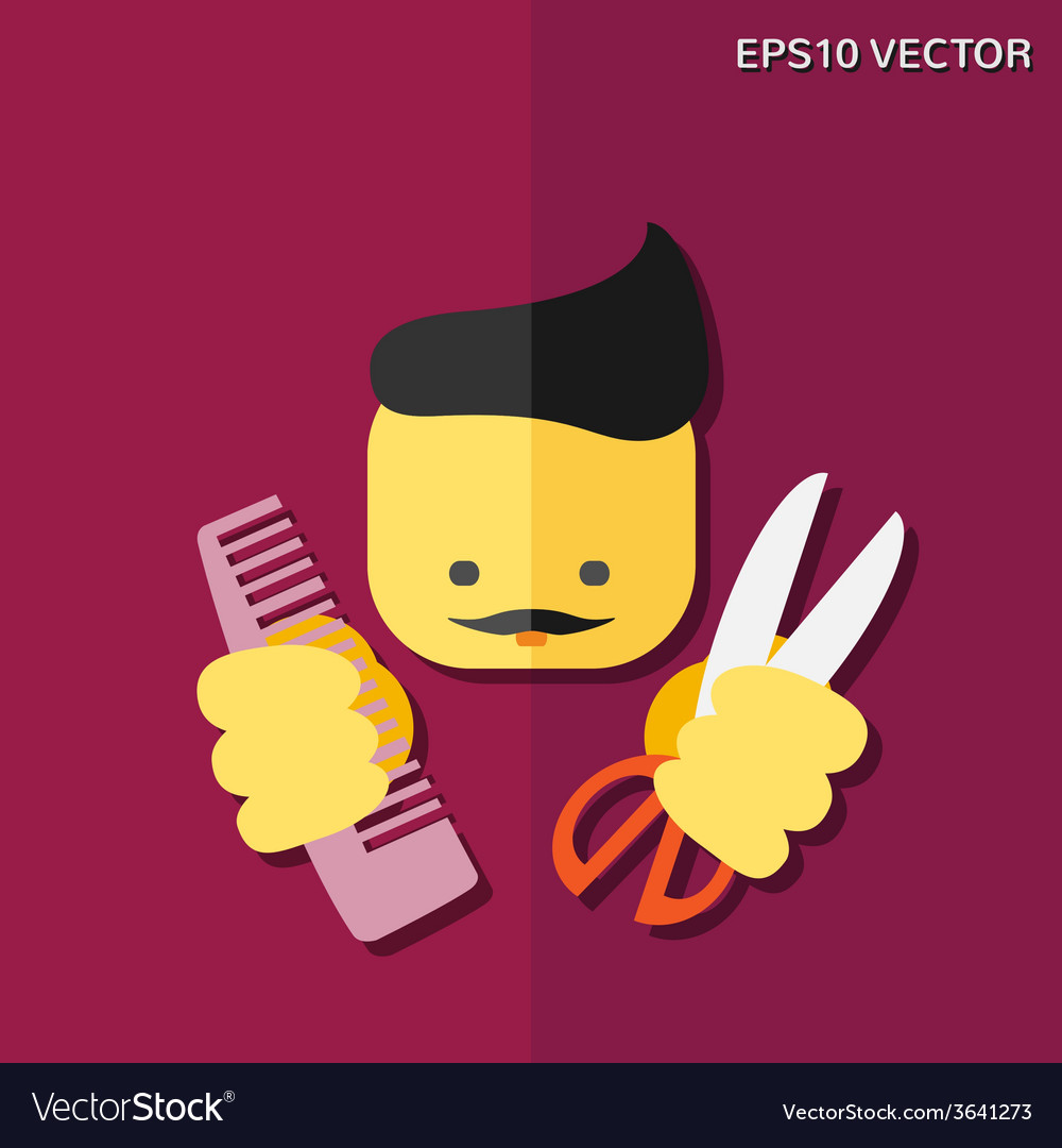 Hairdresser flat icon vector | Price: 1 Credit (USD $1)