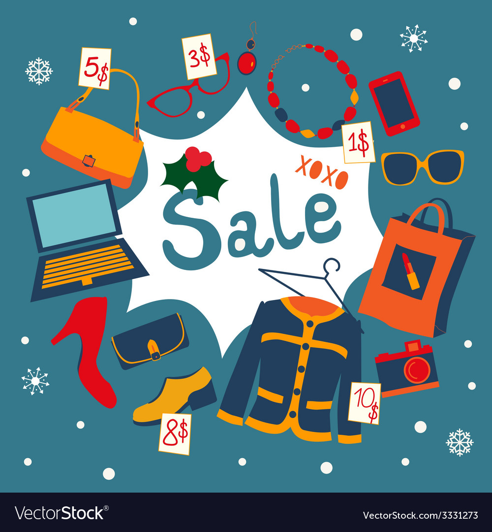 Holiday garage sale vector | Price: 1 Credit (USD $1)