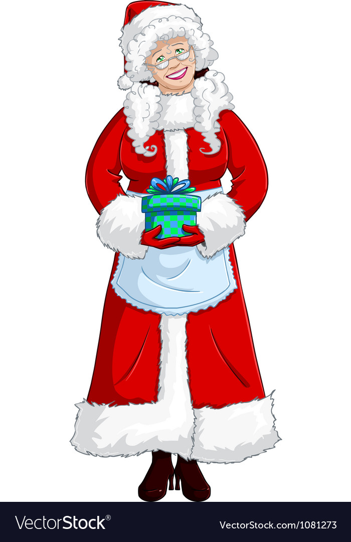Mrs santa claus vector | Price: 1 Credit (USD $1)