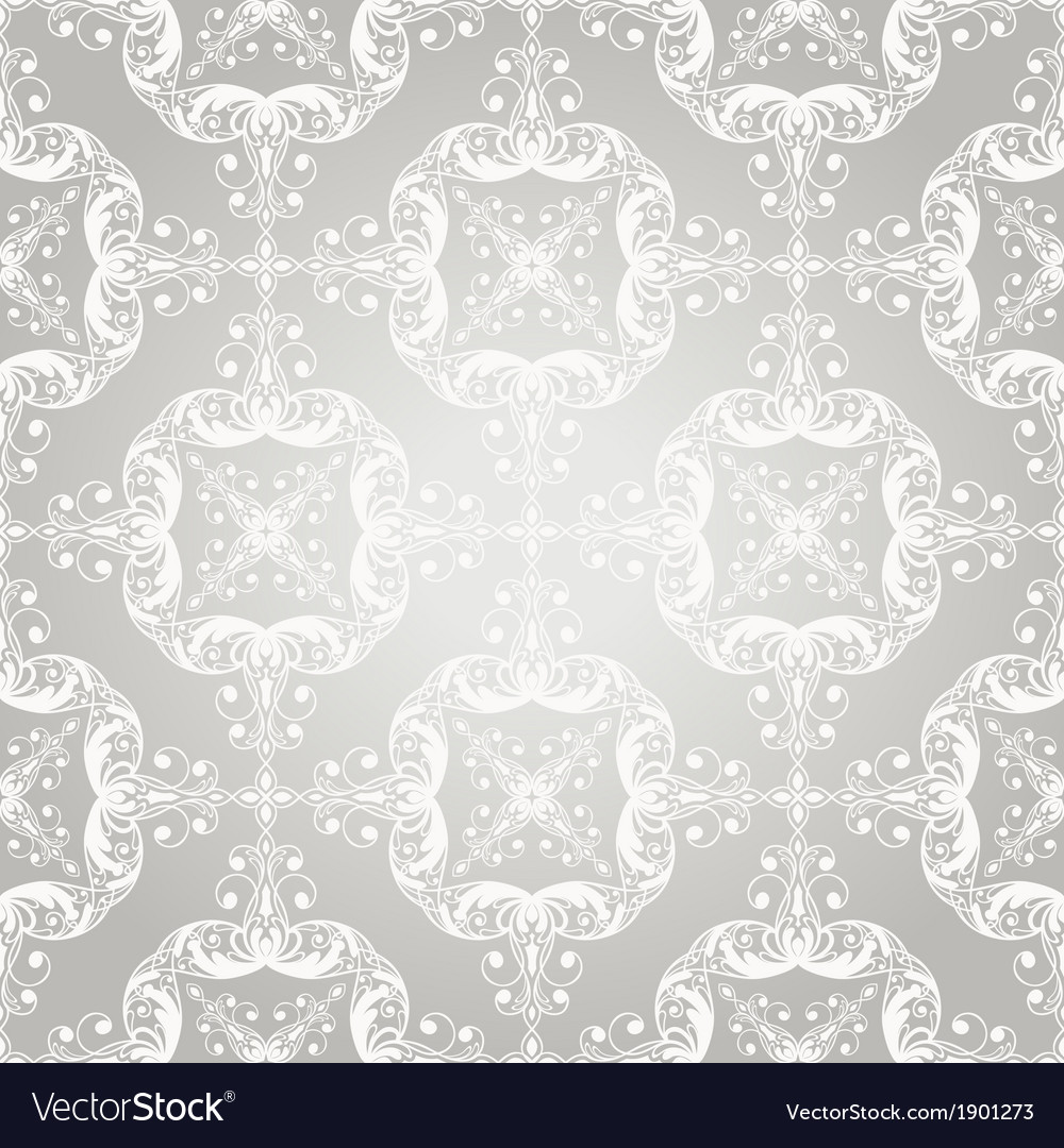 Seamless vintage lacy floral pattern vector | Price: 1 Credit (USD $1)