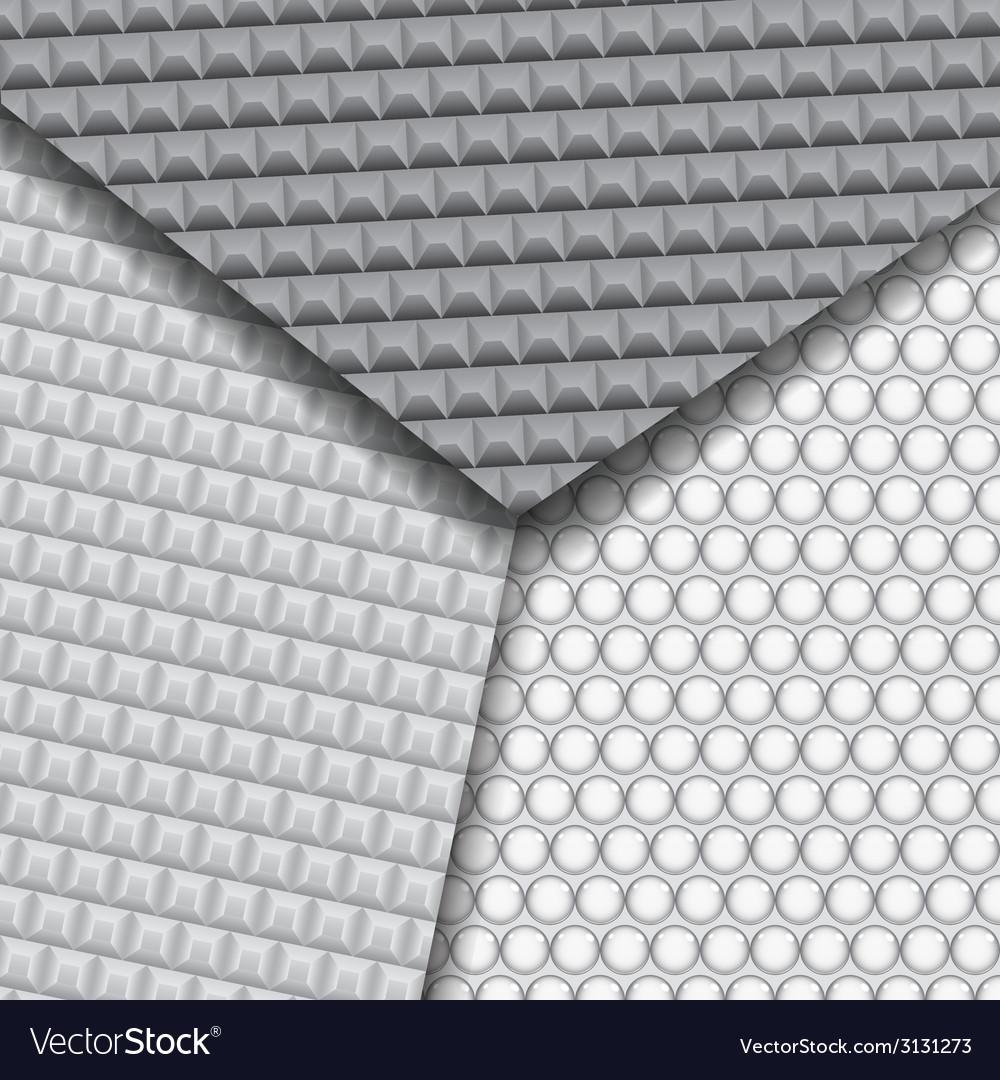 Set of several seamless carbon fiber patterns vector | Price: 1 Credit (USD $1)