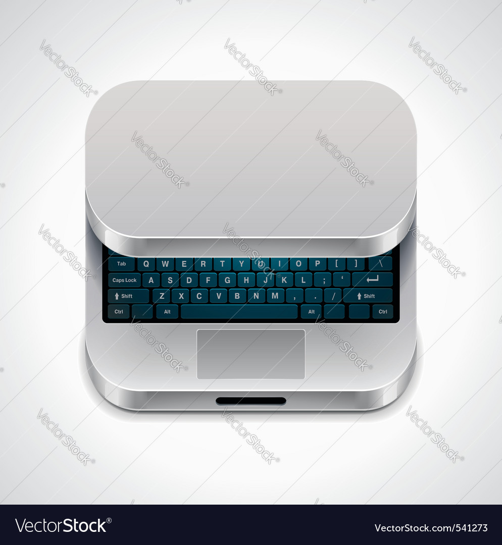 square laptop icon vector | Price: 1 Credit (USD $1)