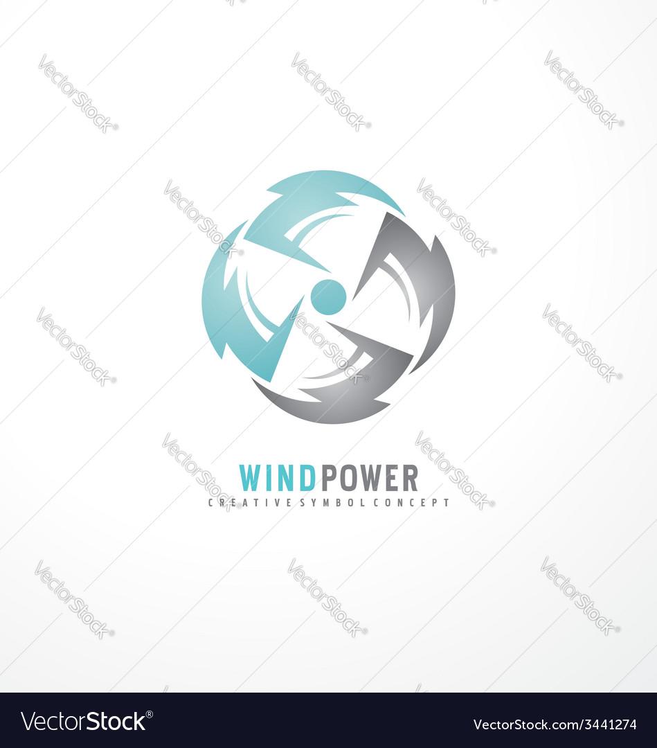 Air conditioning symbol concept vector | Price: 1 Credit (USD $1)