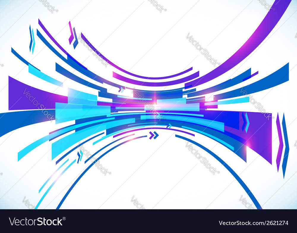Blue perspective bow abstract background vector | Price: 1 Credit (USD $1)