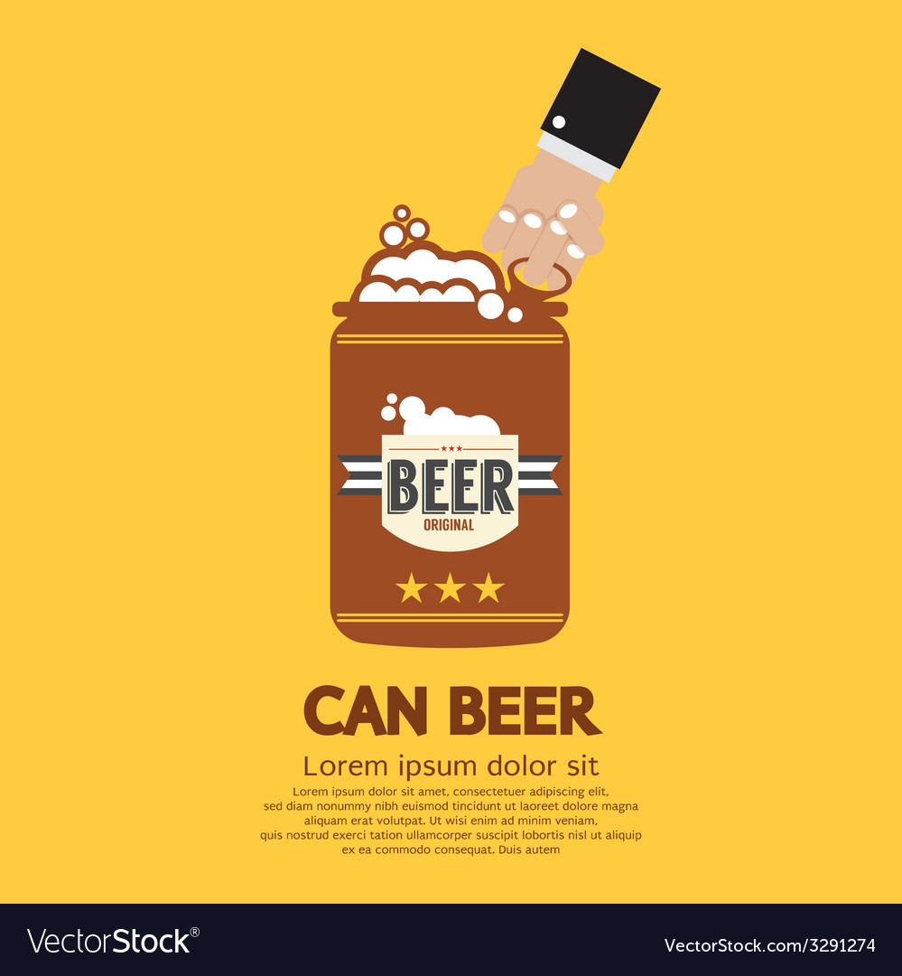 Canned beer graphic vector | Price: 1 Credit (USD $1)