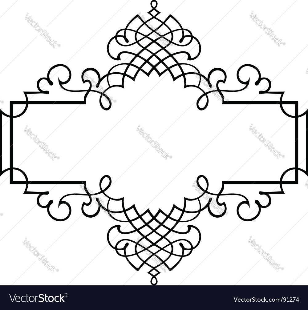 Elegance frame vector | Price: 1 Credit (USD $1)