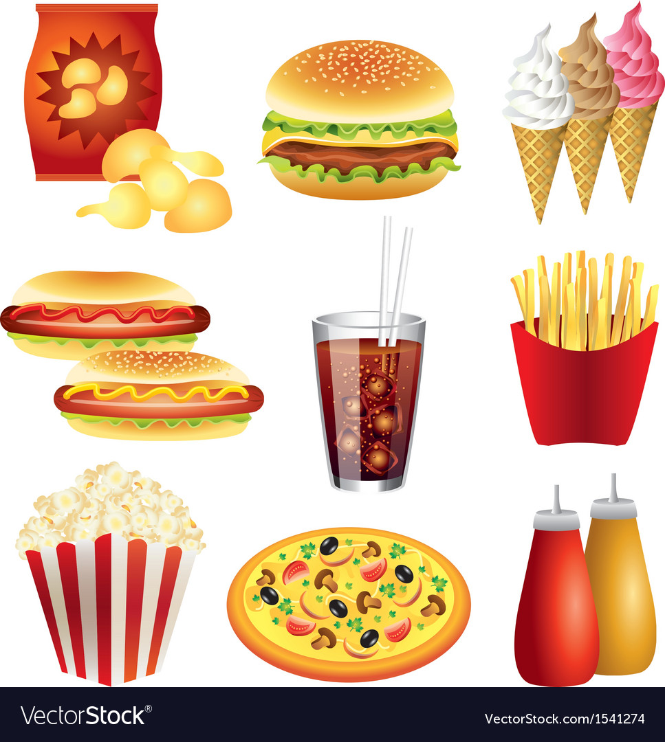 Fastfood set vector | Price: 3 Credit (USD $3)