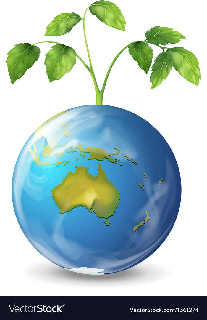 Green planet earth vector | Price: 1 Credit (USD $1)