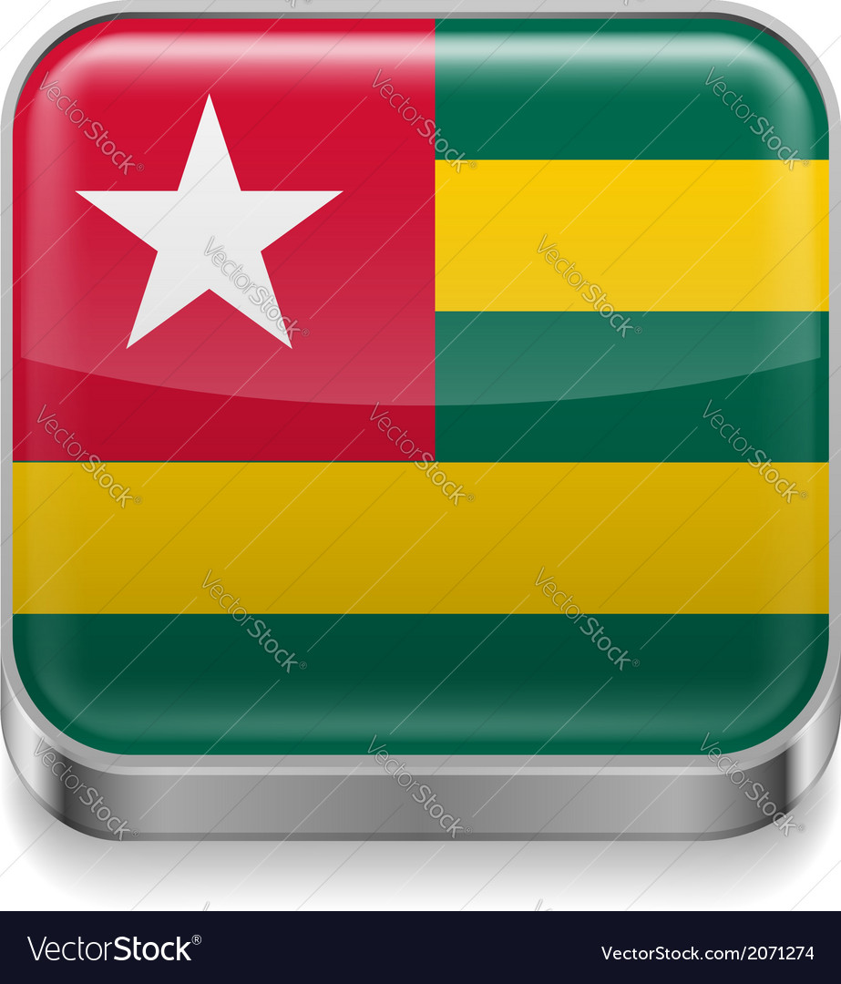 Metal icon of togo vector | Price: 1 Credit (USD $1)