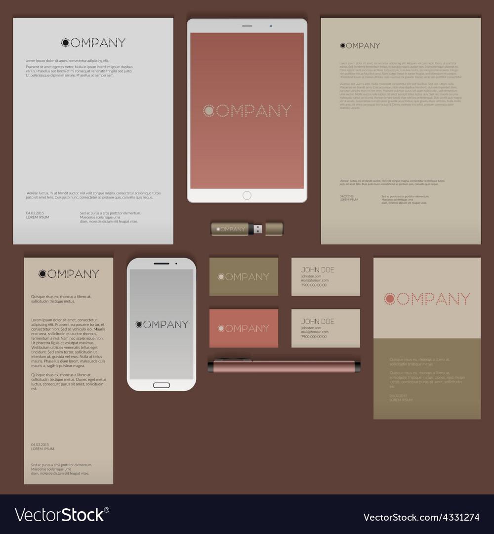 Modern corporate identity template design flat vector   Price: 1 Credit (USD $1)