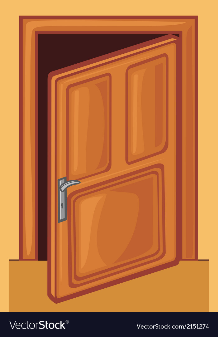 Open door vector | Price: 1 Credit (USD $1)