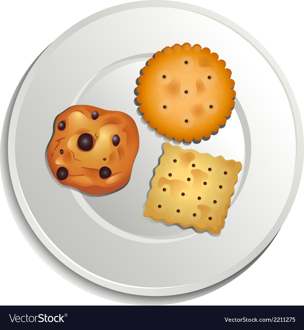 A plate with biscuits vector | Price: 1 Credit (USD $1)