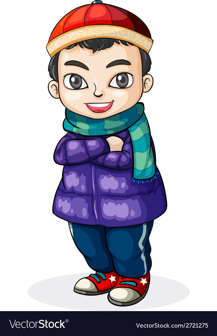 A young chinese boy vector | Price: 1 Credit (USD $1)