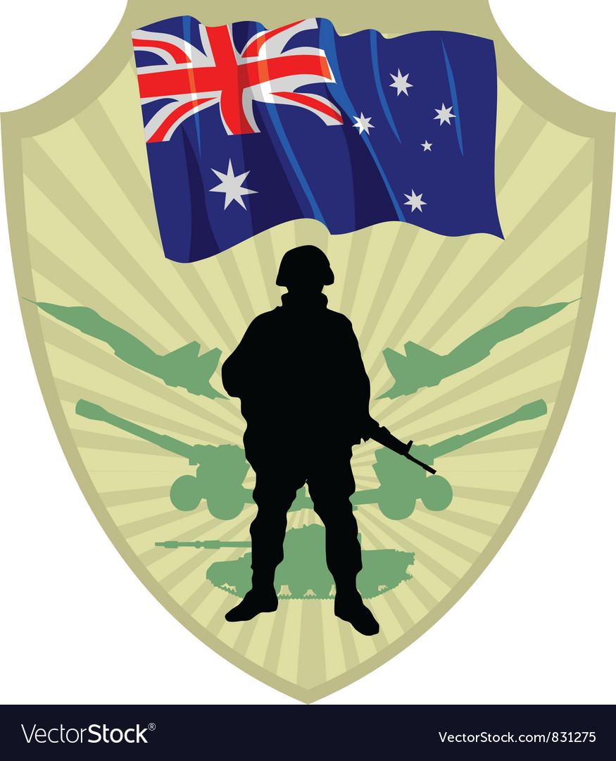 Army of australia vector | Price: 1 Credit (USD $1)