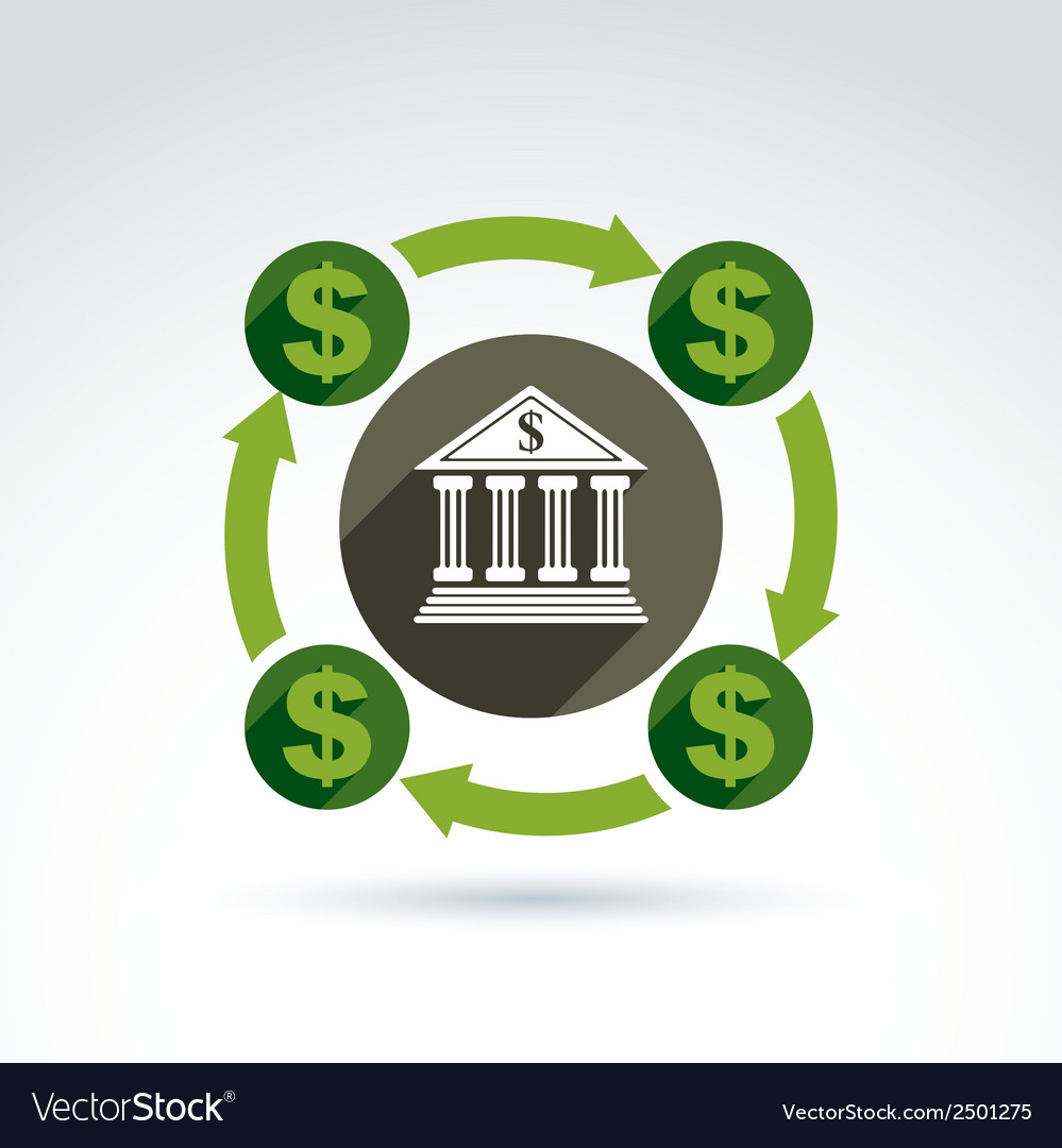 Banking credit and deposit money theme icon vector | Price: 1 Credit (USD $1)