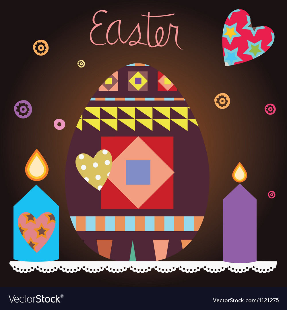 Easter celebration post card vector | Price: 1 Credit (USD $1)