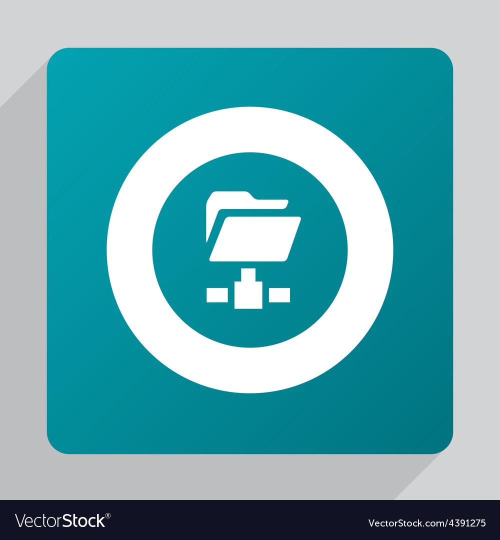 Flat web folder icon vector | Price: 1 Credit (USD $1)
