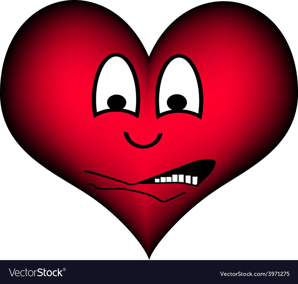 Heart afraid vector | Price: 1 Credit (USD $1)