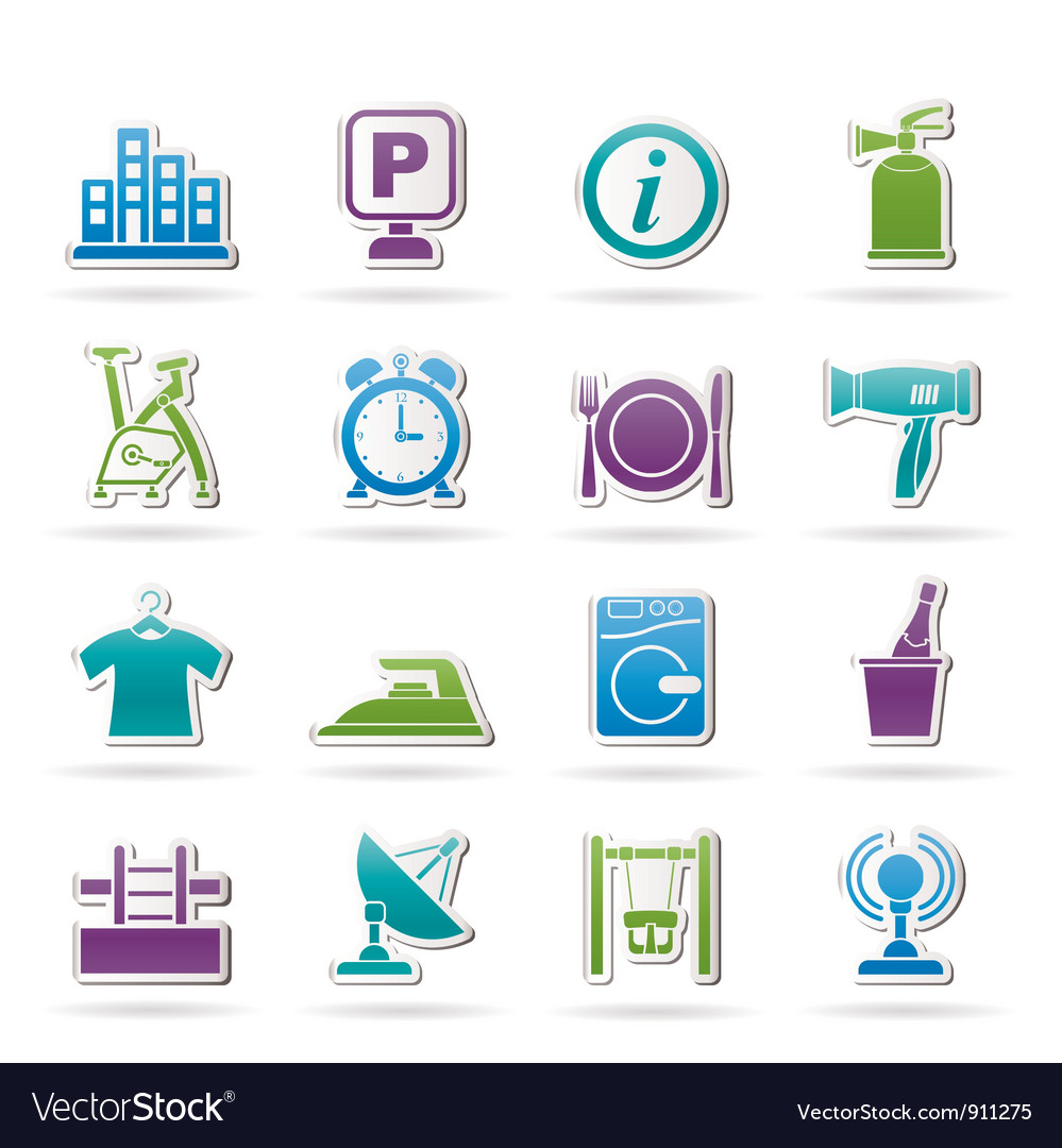 Hotel and travel icons vector | Price: 1 Credit (USD $1)