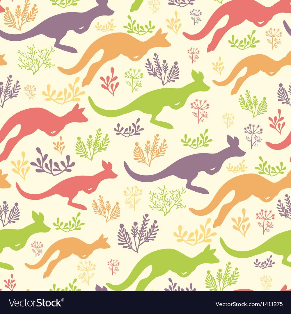 Jumping kangaroo seamless pattern background vector | Price: 1 Credit (USD $1)