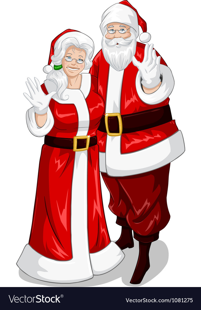 Santa and mrs claus vector   Price: 3 Credit (USD $3)