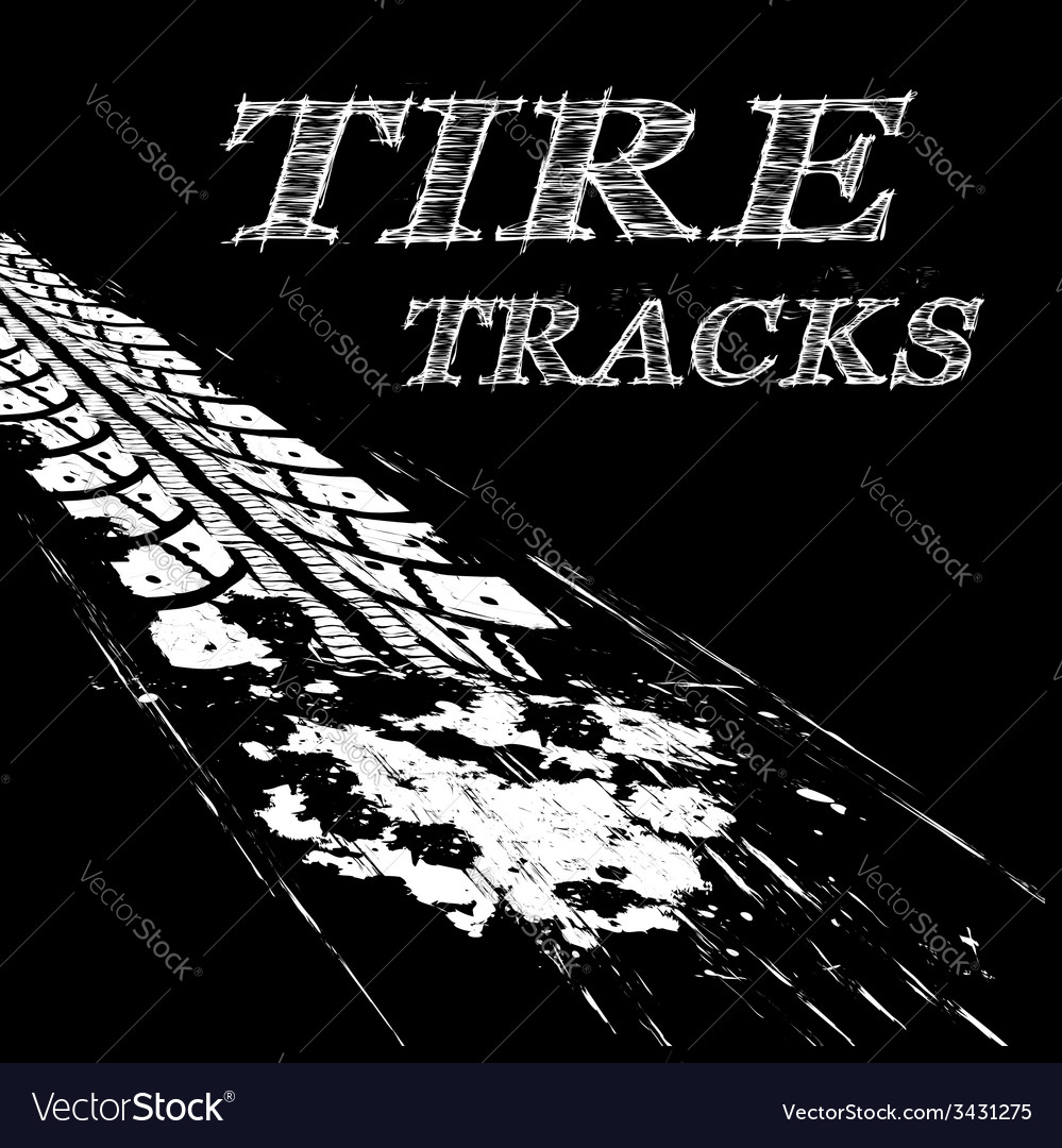 Tire tracks vector | Price: 1 Credit (USD $1)