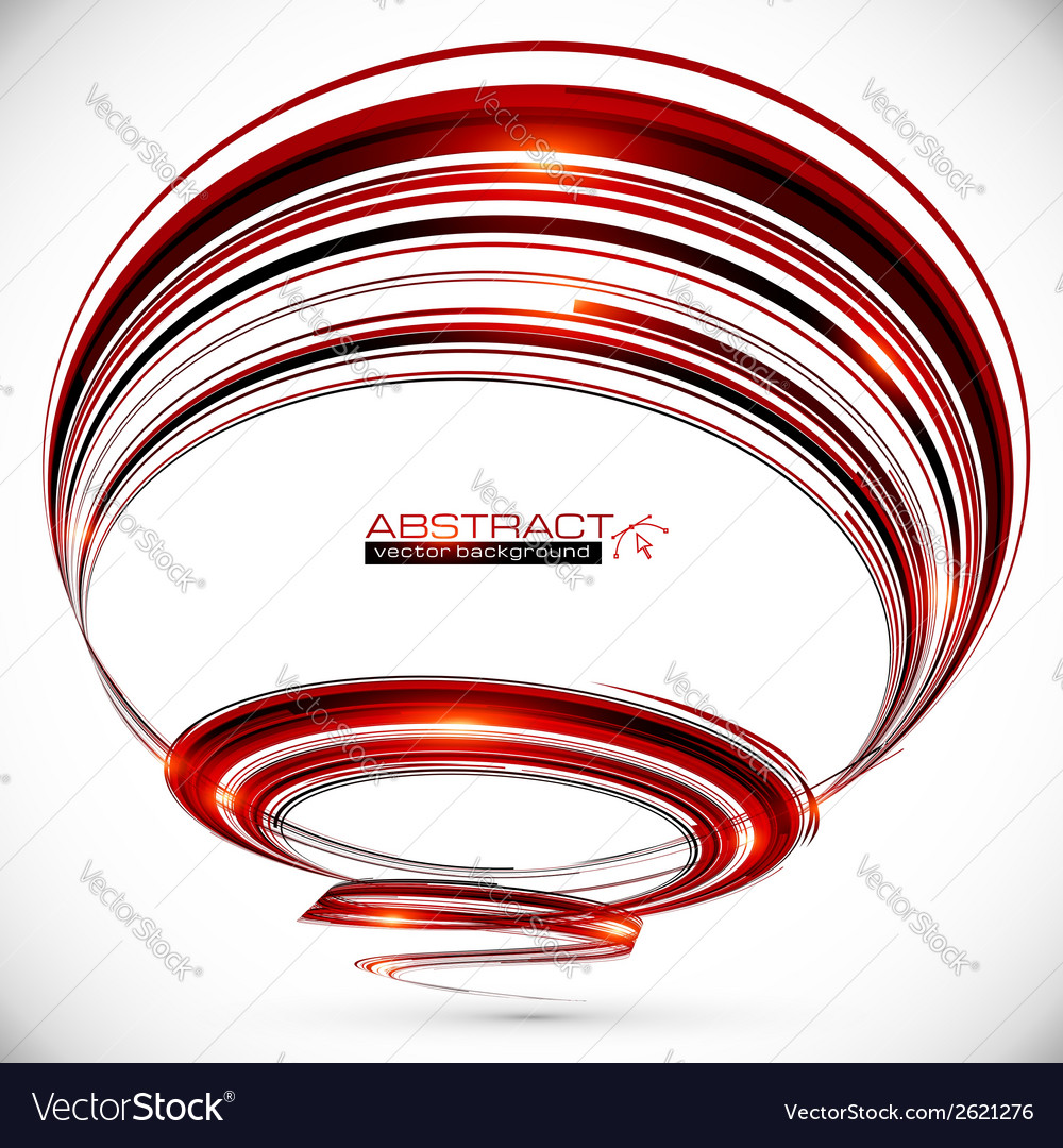 Abstract dark red spiral background vector | Price: 1 Credit (USD $1)