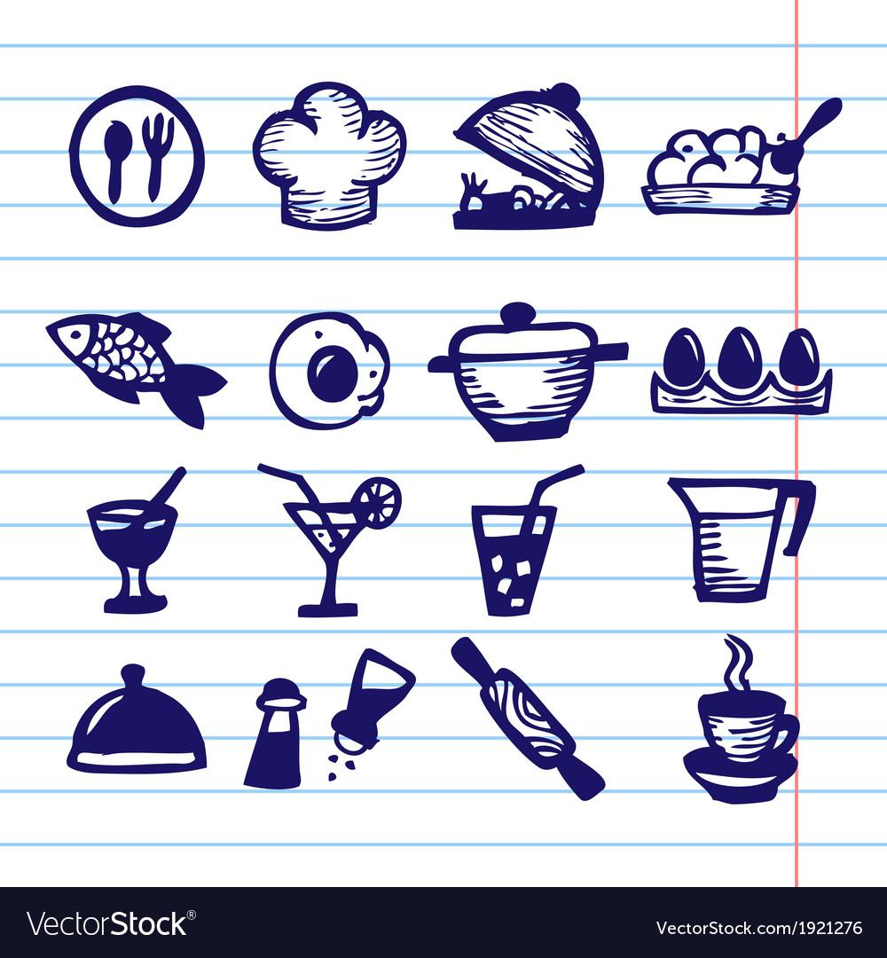 Big food icon set vector | Price: 1 Credit (USD $1)