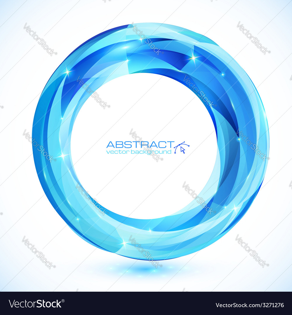 Blue shining crystal glass ring frame vector   Price: 1 Credit (USD $1)