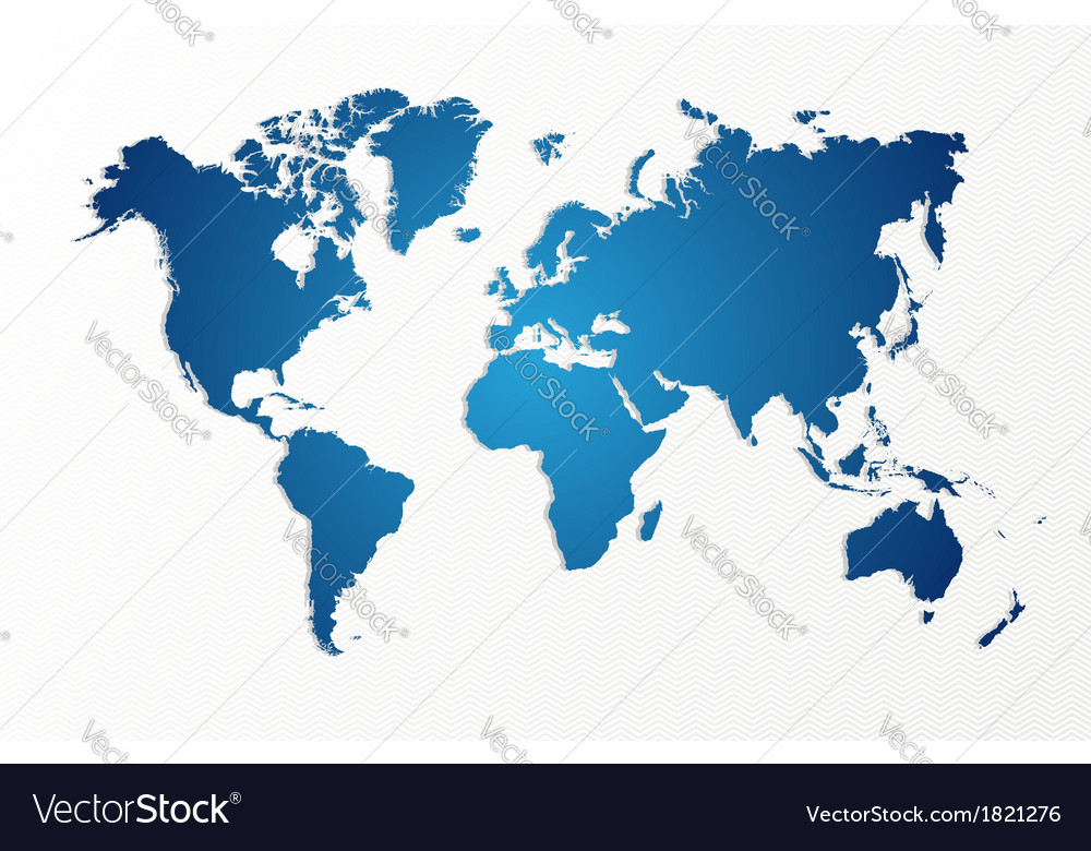Blue world map isolated shape eps10 file vector | Price: 1 Credit (USD $1)
