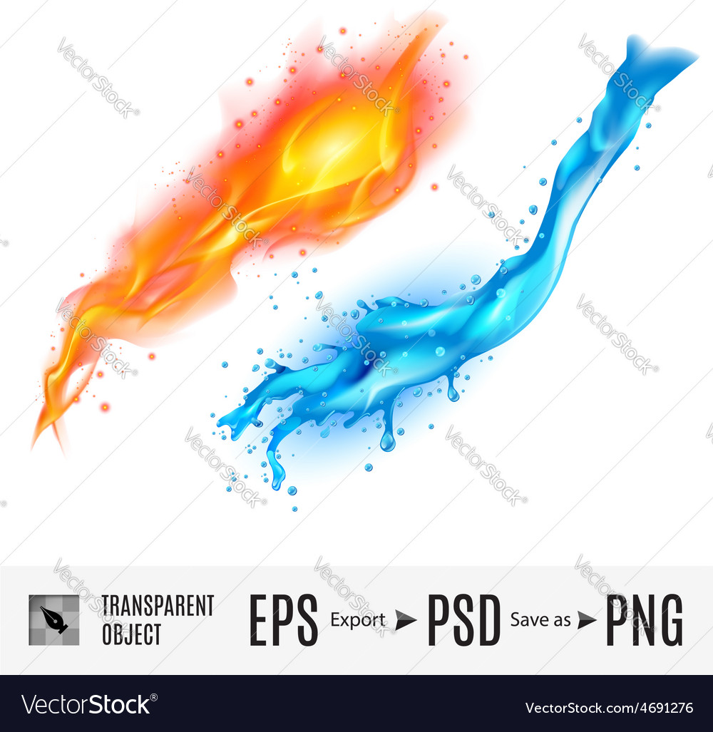 Fire and water vector | Price: 1 Credit (USD $1)