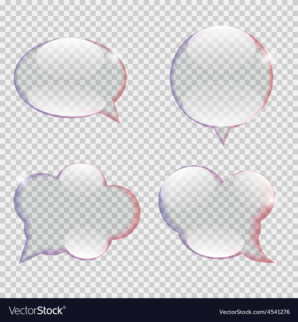 Glass transparency speech bubble vector | Price: 1 Credit (USD $1)