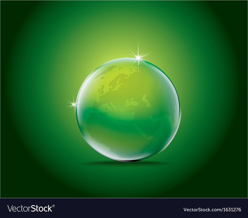 Icon green earth vector | Price: 1 Credit (USD $1)