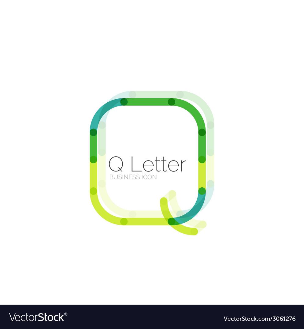 Minimal q font or letter logo design vector | Price: 1 Credit (USD $1)