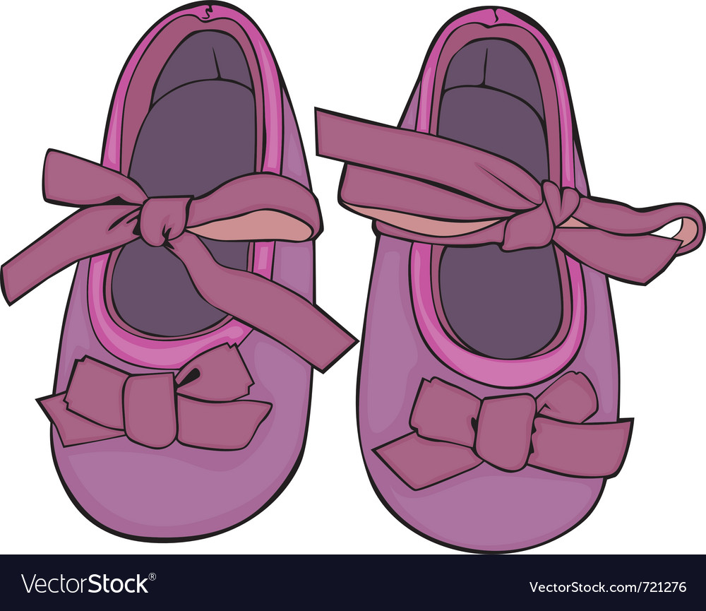Of a pair of baby shoes vector | Price: 1 Credit (USD $1)