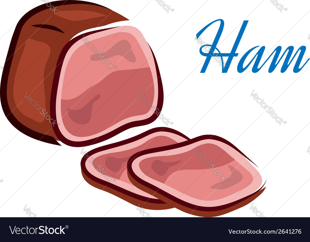 Pieces of ham vector | Price: 1 Credit (USD $1)