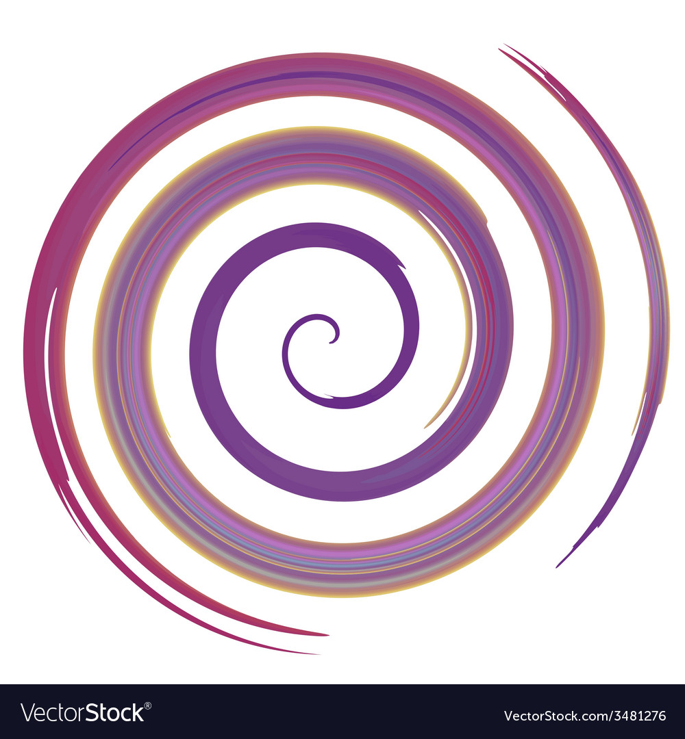Purple watercolor spiral vector | Price: 1 Credit (USD $1)