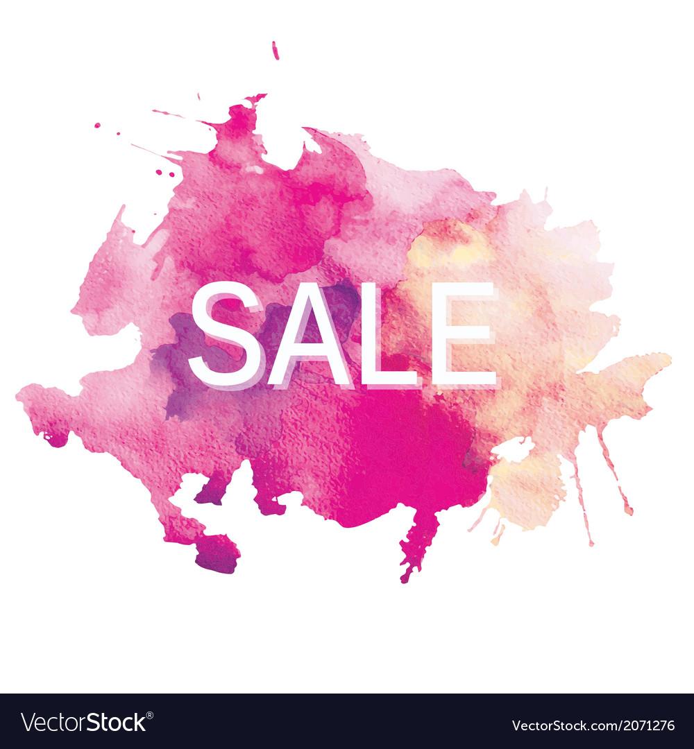 Sale watercolor vector | Price: 1 Credit (USD $1)