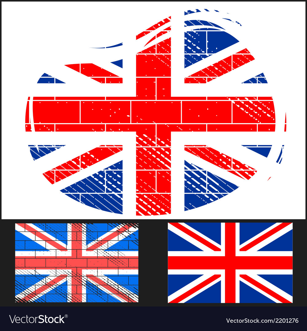 Shabby flag of great britain vector | Price: 3 Credit (USD $3)