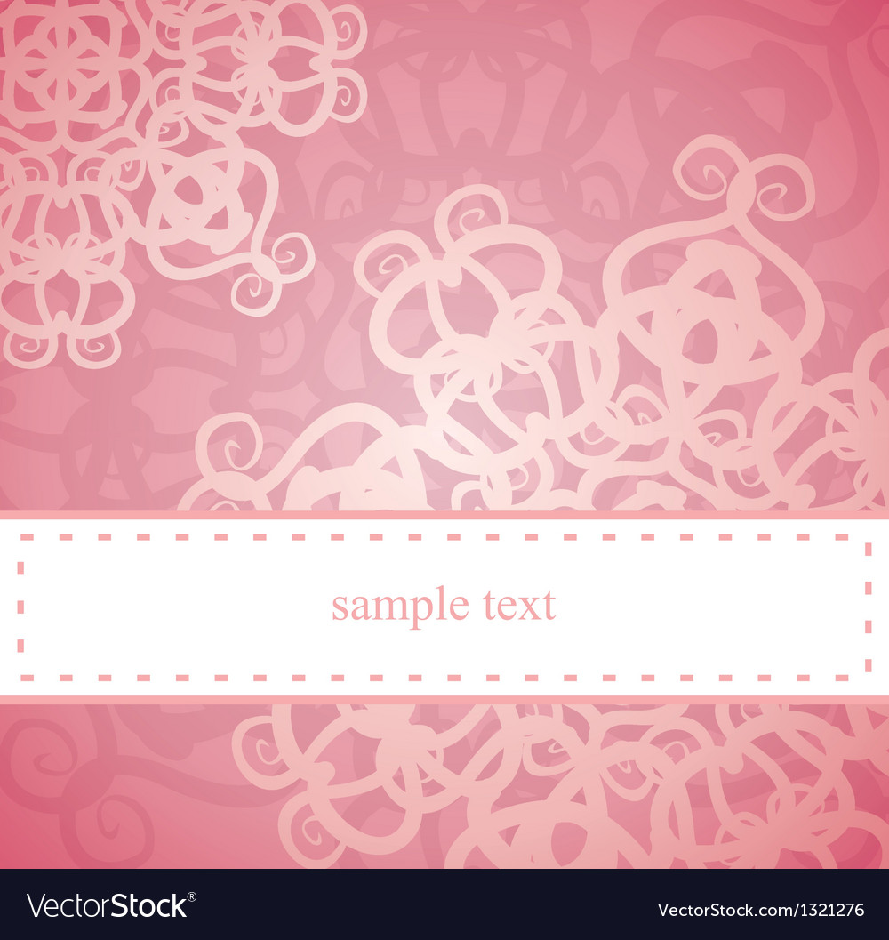 Sweet pink card or invitation for birthday party vector | Price: 1 Credit (USD $1)